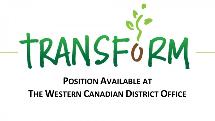 Office Manager - The Western Canadian District